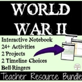 World War II Activities  Projects Interactive Notebook Teacher Resource Bundle