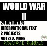 World War 2 curriculum resource Bundle for WWII unit