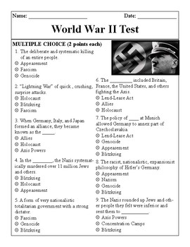 World War II Test
