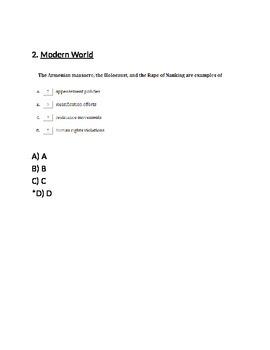 World War II Test B -- for Respondus (World Civilizations II)