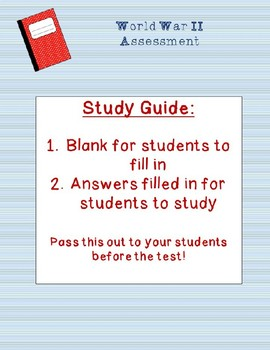 World War II Test and Study Guide