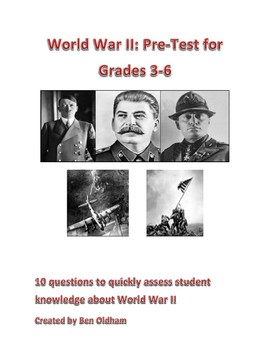 World War II Test with Answers and Bonus Crossword Puzzle