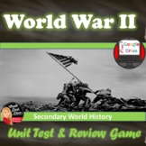 World War II Tests & Review Games | Common Core | World History | Fully Editable