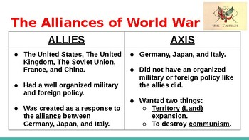 World War II - The Allied and Axis Powers