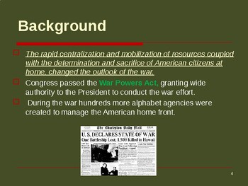 World War II - The American Homefront