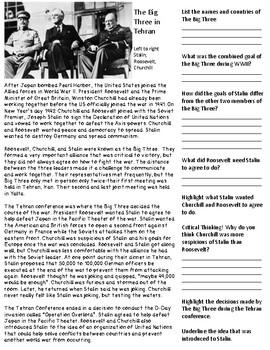 World War II: The Big Three