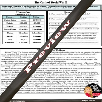 World War 2 Worksheet - The Four Chaplains of the SS Dorchester | TpT