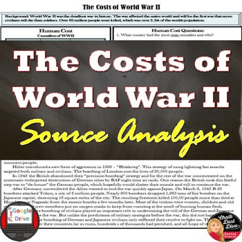 World War II – The Cost of War: Economic, Social, Politica