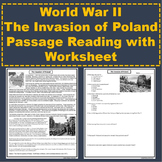 World War II - The Invasion of Poland and Holocaust Reading Passage / Worksheet