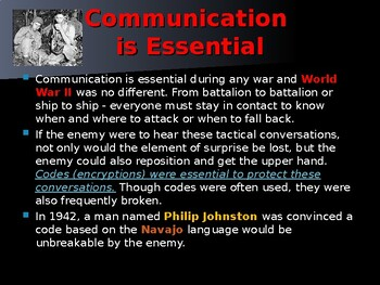 World War II - The Navajo Code Talkers