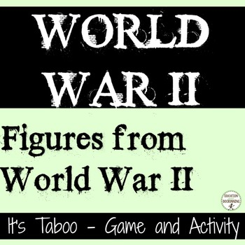 World War 2 Inquiry center activity and game for the People of World War II