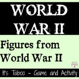 World War 2 Activity Game for the People of World War II