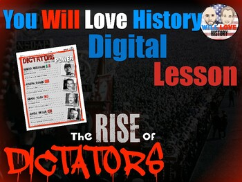 World War II: The Rise of the Dictators Activity Google Drive Version