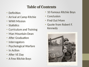 World War II - The Ritchie Boys - Heroes of World War II