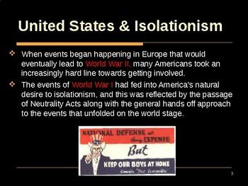 World War II - The United States & Isolationism