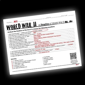 World War 2 Timeline Activity Wwii By Lesson Plan Ninja Tpt