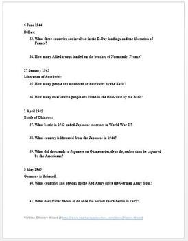 World War II Timeline Webquest