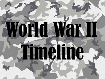 World War II Timeline with student guide