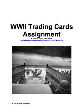 World War II Trading Cards Assignment
