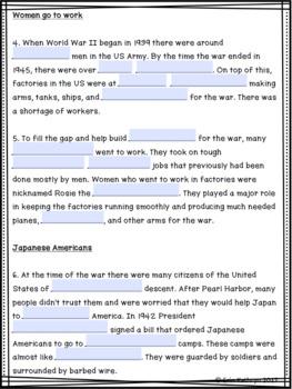 World War II U.S. Home Front Internet Scavenger Hunt WebQuest Activity