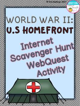 World War II U.S. Homefront Internet Scavenger Hunt WebQue