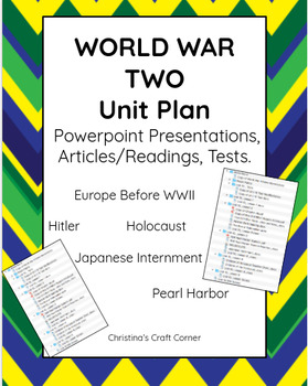 World War II: UNIT PLAN BUNDLE