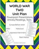 World War II: UNIT PLAN BUNDLE