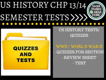 World War II US History Test and Quizzes