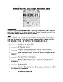 World War II: US Steps Towards War- put the steps in order worksheet