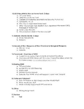 World War II Unit Plan Part 1/6- awesome unit