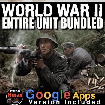 World War 2 Unit - PowerPoints, Worksheets, Lesson Plans+Test(WW2)
