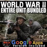 World War 2 Unit - PowerPoints, Worksheets, Lesson Plans+T