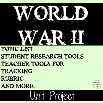 World War II Student-centered Unit Project