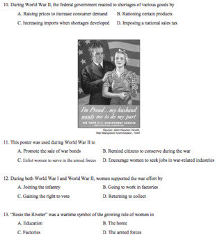 World War II Unit Test and Review Materials