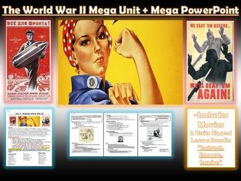 STORY OF WORLD WAR 2:  Lesson Bundle + Mega PowerPoint/Videos (WORLD HISTORY)