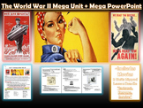 STORY OF WORLD WAR 2:  Lesson Bundle + Mega PowerPoint/Vid