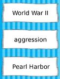 World War II Vocab Cards - SS5H4