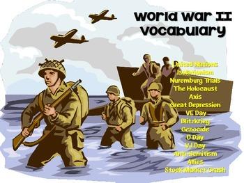 World War II Vocabulary Bundle