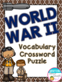 World War II Vocabulary Crossword Puzzle Activity