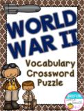 World War II Vocabulary Crossword Puzzle Activity