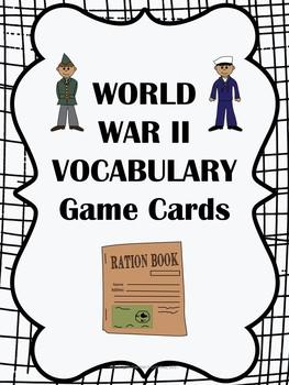 World War II Vocabulary Game Cards