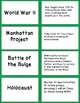 World War II Vocabulary Match -Ups
