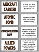 World War II Vocabulary Matching Activity (World War 2, WWII, WW2)
