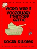 World War II Vocabulary Memory Game