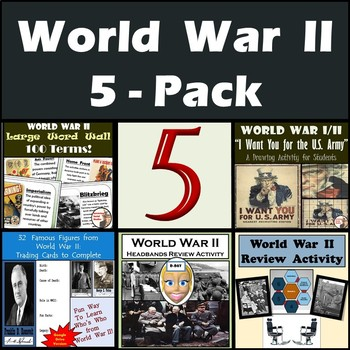 World War II (WWII) 5-Pack of Resources