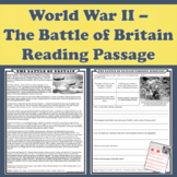 World War II (WWII) - The Battle of Britain Primary Source Reading Passage