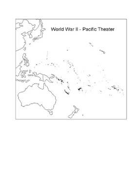 World War II: War in the Pacific Map Activity with Key!!!