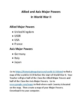 World War II Webquest (WW II) with Google Maps