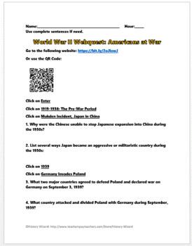 World War II Webquest (Americans at War)