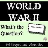World War 2 Bell Ringers for World War 2 unit
